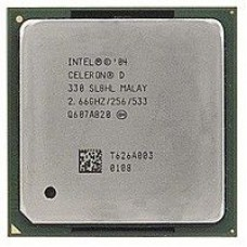 Процессор Intel Celeron D 330 2.66GHz/256/533, s775, tray