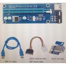 Контроллеры и переходники опт и розница Адаптер Riser Card VER006 PCI-E extender 60см USB 3.0 ⏩ megapower.space ▻▻▻