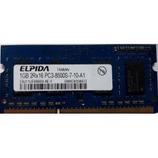 Память SO-DIMM DDR3 1GB Elpida PC3-8500 (1066Mhz) б/у