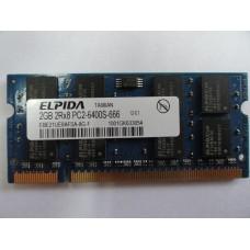 Память SO-DIMM DDR2 2GB Elpida PC6400 (800Mhz) б/у
