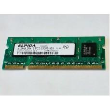 Память SO-DIMM DDR2 512MB Elpida PC5300 (667Mhz) Б/У